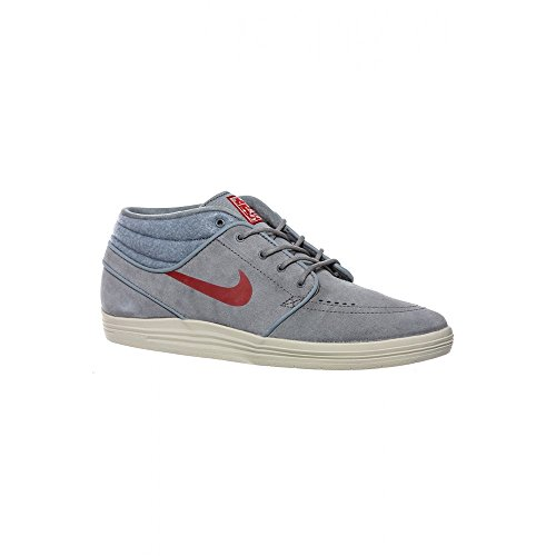 Nike Lunar Stefan Janoski Mid Herren Skateboarding-Shoes, - Grau / Rot (cool grey gym red light ash grey 060) - Größe: 40 EU