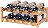 Riipoo Wine Rack Countertop, Wine Racks Shelf, Wine Bottle Holder for Pantry Cabinet Bar, Refrigerator, 2 Tier