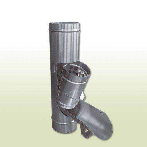 Zink Regenwasserklappe DN 100 mit Laubfangkorb