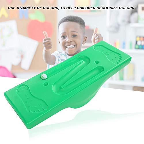 Kids Balance Board, sicherer rutschfester Fitness Board Balance Trainer mit 6 Kugeln für das sensorische Integrationstraining für Kinder(Grün)