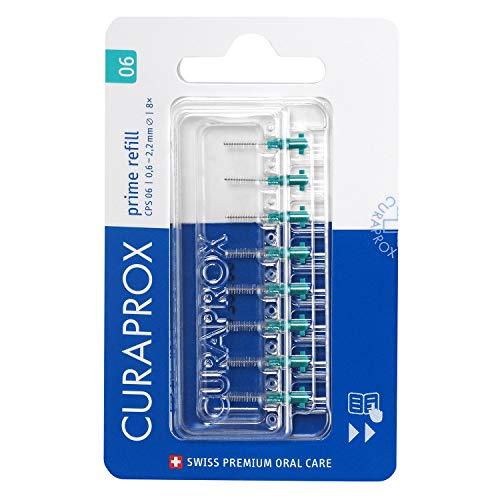 CURAPROX Interdentalbürsten CPS 06 Prime, 8 Stück, Größe 0,6mm, für die Reinigung extrem schmaler Zahnzwischenräume, Zahnreiniger Bürstchen, Interdental Bürsten, Interdental Aufsteckbürsten