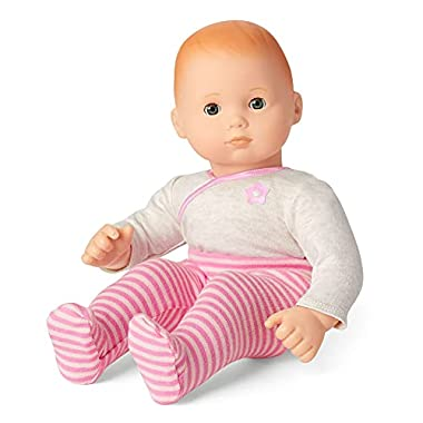 American Girl Bitty Baby – Bitty Baby Doll with Hazel Eyes, Red Hair, Light Skin with Neutral Undertones in Pink – DN6