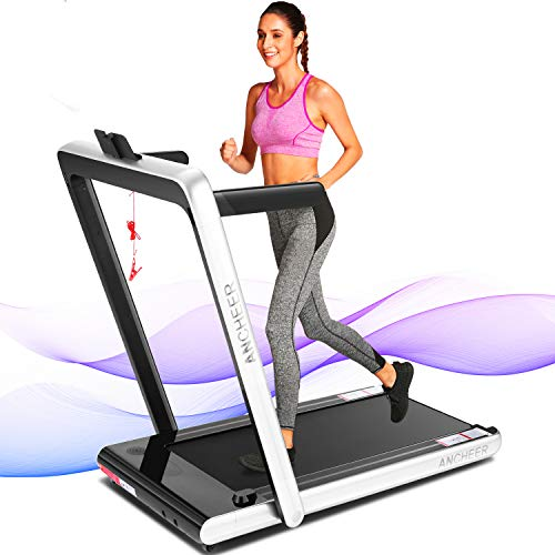 ANCHEER 2 in1 Folding Treadmill, 2.25HP Under Desk...