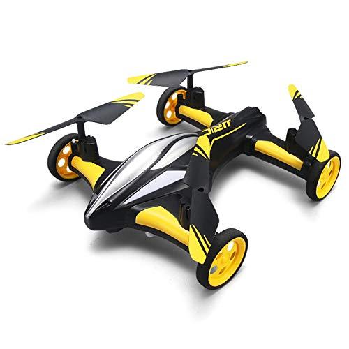 WANXJM Allradantrieb 4-Achsen-Drohne Land- und Luft-Dual-Mode-Fernbedienungsflugzeug EIN-Knopf-Rücklauf-LED-Nachtsicht-Hubschrauberrennen