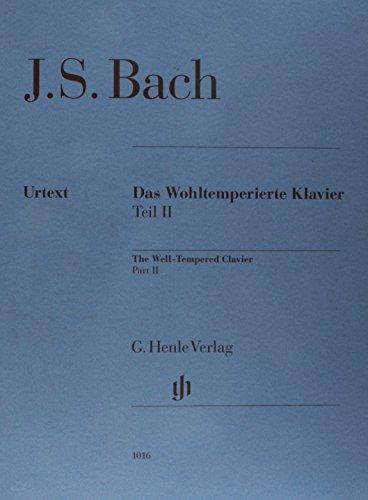 Das Wohltemperierte Klavier Teil 2 ohne Fingersätze, Urtext: Klavier zu zwei Händen; Ausgabe ohne Fingersatz; ersetzt HN 258
