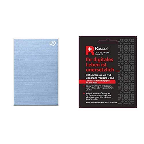 Seagate Backup Plus Slim 1 TB tragbare Externe Festplatte (6,3 cm(2,5 Zoll) USB 3.0, PC und Mac) blau + Datenrettungs Service tragbare Externe SSD (6,3 cm(2,5 Zoll) USB-C, USB 3.0, PC und Mac)