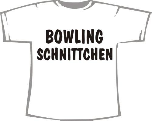 Bowling Schnittchen; T-Shirt weiß, Gr. 4XL; Unisex