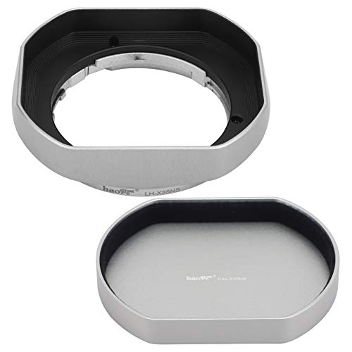 Metall-Bajonett-Gegenlichtblende für Fujifilm XF 35 mm F2 R WR Fujifilm XF 23 mm F2 R WR,XC 35 mm F2, Fuji 35 mm F2 Gegenlichtblende, Fuji 23 mm F2 Objektiv, 35 mm F2 23 mm F2 mit Metall-Frontkappe,