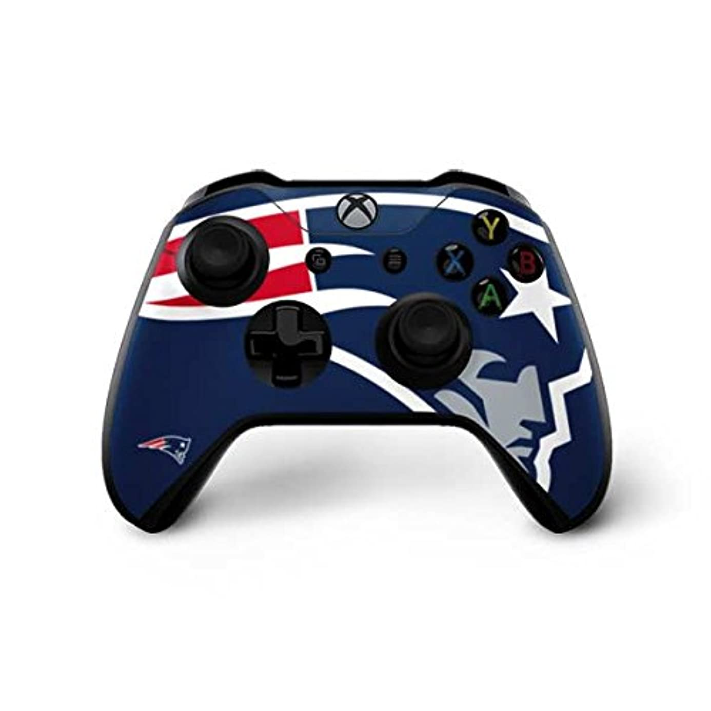 Skinit New England Patriots Large Logo Xbox One X Controller Skin - Officially Licensed NFL Gaming Decal - Ultra Thin, Lightweight Vinyl Decal Protection