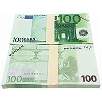 BIYI 5 10 20 50100200500 EUR Billetes de oro en papel moneda falso de oro de 24K para colección Juegos de billetes en euros 100 EURO