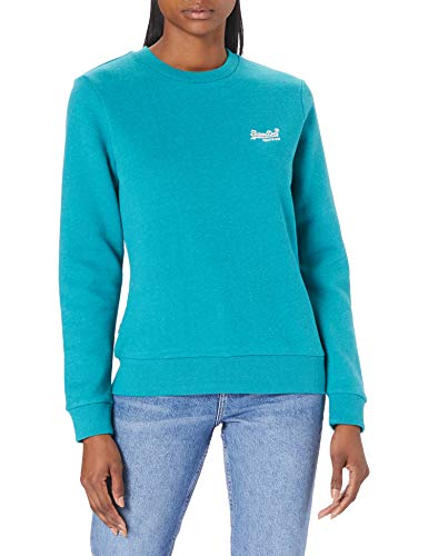 Superdry Womens OL Classic Crew Sweat Sweatshirt, Ocean Green Marl, M
