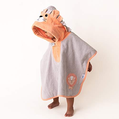 Schlummersack kuschelig weicher Badeponcho mit Kapuze - Löwe - für Jungs und Mädchen von 1-3 Jahre