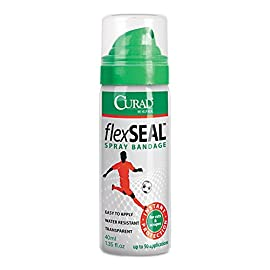 Curad FlexSeal Spray Bandage Green, 1.35 Fl Oz 1 Instant protection for cuts and scrapes Water-resistant and easy to apply Portable for on-the-go use