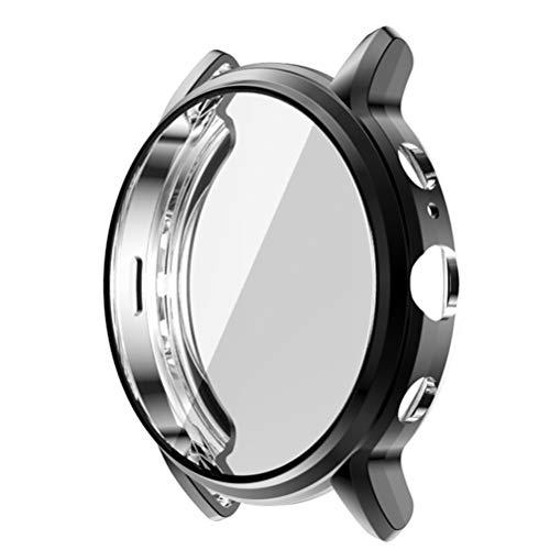 POPETPOP Smart Watch Tpu Bumper Case Capa de Armação Protetora Shell à Prova de Choque Anti Scratch Smartwatch Protetor de Tela Compatível para Gen Fossil 5 The Carlyle Hr (Preto)