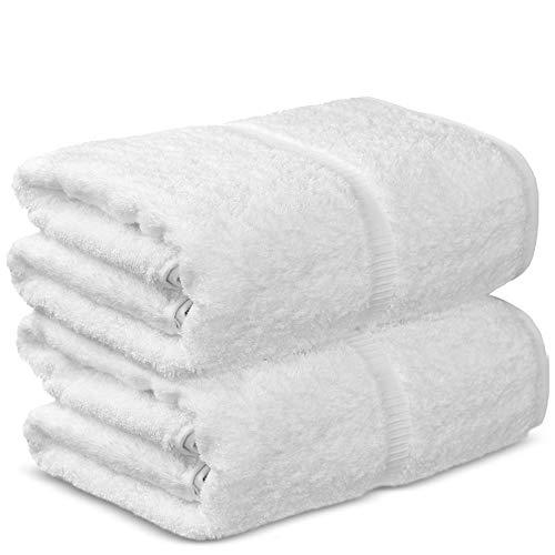 Chakir Turkish Linens Hotel & Spa Quality, Premium Cotton Turkish Towels (35''x70'' Jumbo Bath Towels - White)