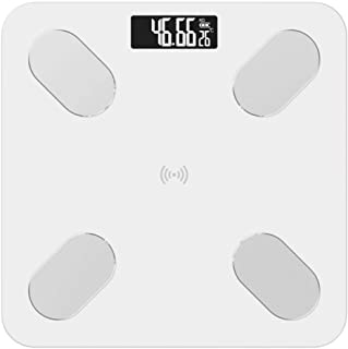 Báscula De Baño Body Fat Scale Floor Scientific Smart Electronic Led Digital Peso Básculas De Baño Balance Aplicación Bluetooth Android Ios Blanco