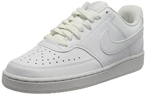 Nike Court Vision Lo Be, Zapatillas para Caminar Mujer, White/White-White, 36.5 EU