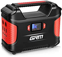 GRM Portable Power Station, 155Wh/42000mAh Rechargeable Solar Generator Backup Battery Power Supply with 2 LED Flashlights, 8 Ports (QC3.0/Type-C Port Included) for CPAP Outdoors Camping Emergency