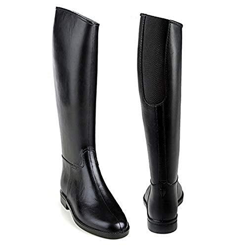 Equi-Essentials Ladies Cadet Flex II Rubber Tall Riding Black Boots with Elastic Insert, 38 (7 US)