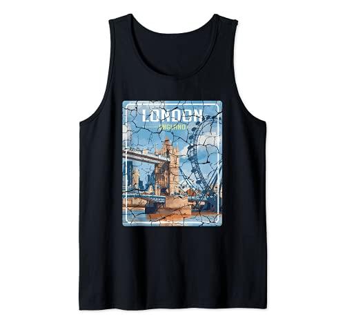 City de Londres Inglaterra Aventurero Camiseta sin Mangas