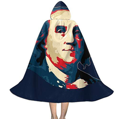 NUJIFGYTCRD Benjamin Franklin Pop Art Capa con Capucha Unisex para ...