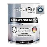 colourPlus Badewannenlack (750ml, Weiß) 1K - glänzender Badewannenlack weiß - Lack...