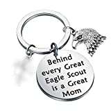 CHOORO Eagle Court of Honor Gift Ceremony Scoutmaster Gift Behind Every Great Scout Is A Great Mom Keychain (Eagle Mom keychain)