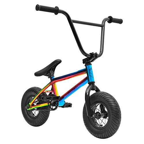 Sullivan Mini BMX Neo Chrome/Black, Stunt Bike, Freestyle Mini BMX, for Kids Ages 8-16