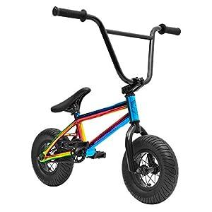 BMX Bikes Sullivan BMX Bike For Kids, Ambush Mini Stunt Bike Oil Slick Neo Chrome [tag]