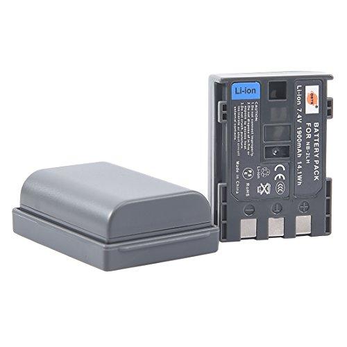 DSTE® 2x NB-2LH Wiederaufladbare Li-Ionen Batterie Akku für Canon Eos 350D 400D Optura 30 40 50 60 400 500 PowerShot G7 G9 S30 S40 S45 S50 S60 S70 S80 DC301 DC310 DC320 DC330 DC410 DC420 ZR100 ZR200 ZR300 ZR400 ZR500 ZR600 ZR700 ZR800 ZR830 ZR850 ZR900 ZR930 ZR950 ZR960 Kamera als NB-2L NB-2L5