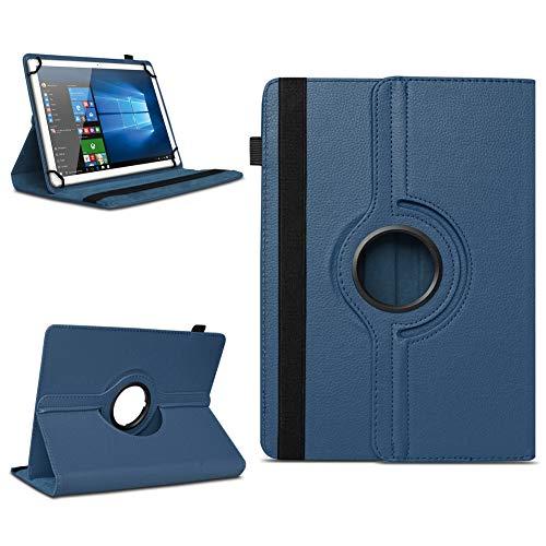 NAmobile Tablet Hülle kompatibel für TrekStor Surftab Breeze 10.1 Quad Tasche Schutzhülle Cover Drehbar Universal Hülle, Farben:Blau