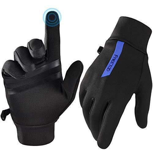 FREETOO Guanti da corsa unisex tecnici, leggeri guanti termici, non pilling, antiscivolo caldi guanti invernali, adatti per corsa, guida, passeggiate e uso quotidiano