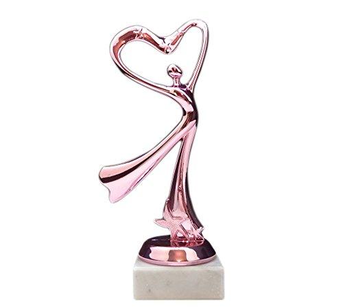 RaRu Geschenk-Pokal (Herz Dame Pink) mit Ihrer Wunschgravur