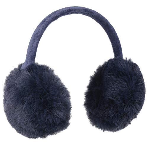 McBurn One Colour Webpelz Ohrenschützer Ohrenwärmer Ohrenschutz Damen - Herbst-Winter - One Size dunkelblau