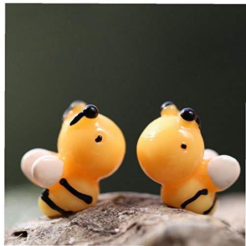 10pcs Resina Musgo Micro Paisaje Adornos Calientes De La Venta Yellow Honey Bee Fairy Decoración del Jardín Manualidades Regalos En Miniatura Índice Suministro