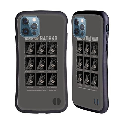 Head Case Designs sous Licence Officielle Batman DC Comics Beaucoup D'Humeurs Mode Vintage Coque Hybride Compatible avec Apple iPhone 12 / iPhone 12 Pro