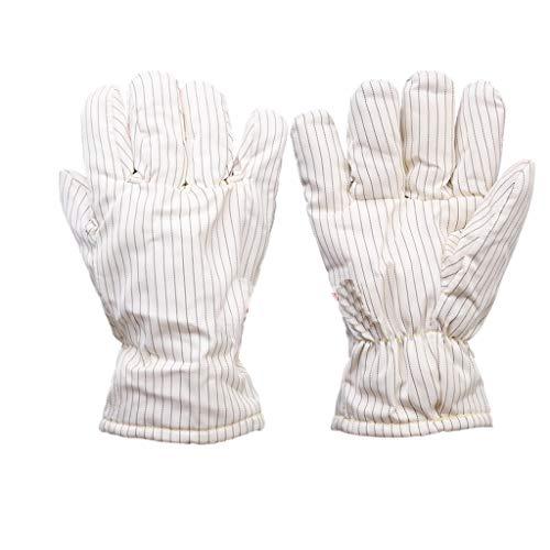 300 Grad Hochtemperaturhandschuhe isolierte antistatische Handschuhe Reinraum Spezial staubfrei Handschuhe, Keine Späne 26 / 40cm LJJOZ (Color : White26cm)