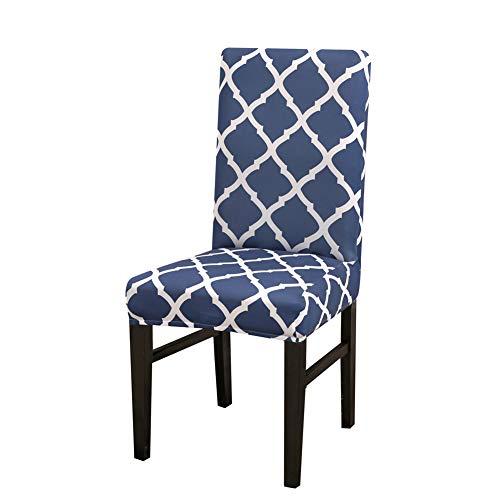 Chickwin stoelhoezen, stretch universeel, elastische stoelbekleding, geometrische ruiten, print 2/4/6/10 stuks, beschermer, stoelovertrek, wasbaar voor bruiloft, hotel, banket, party