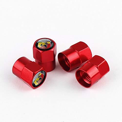 Tapas de válvula de neumático Coche estilo coche rueda neumático válvula vástago tapa cubierta automóviles compatible con Fiat Viaggio Abarth Punto 124 125 500 Auto Accesorios exteriores Tapa de llant