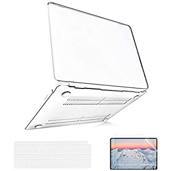 B BELK Compatible with MacBook Air 13 inch Case 2020 2019 2018 Release A2337 M1 A2179 A1932  Touch ID  MacBook Air 2020 Case Clear Plastic Laptop Hard Shell + 2 Keyboard Covers + 1 Screen Protector
