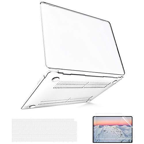 B BELK Funda MacBook Air 13 Pulgadas 2020 2019 2018 con Protector Teclado EU para Carcasa MacBook Air 13' con Touch ID y Pantalla de Retina (Mac Air 13 - A2337/A2179/A1932, Transparente)