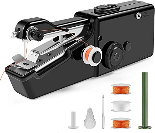 Mahi E-CommerceHand Sewing/Stitch Handheld Cordless Portable White Sewing Machine for Home Tailoring, Hand Machine   Mini Silai Machine with Adapter