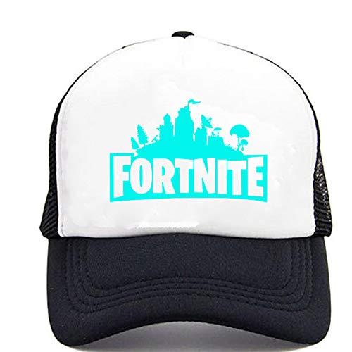 Unisex Baseball Cap Peaked Hat Adjustable for Kids, Man, Women (White)