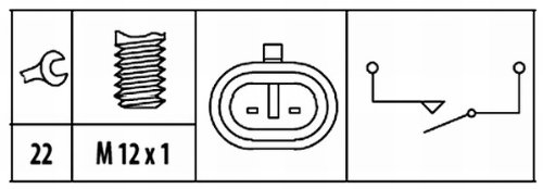 HELLA 6ZF 181 612,021 Interruptor, piloto de marcha atrás , 12V ,...
