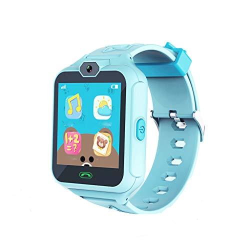 STRIR Smartwatch Niños, Reloj Localizador GPS Niños Impermeable Smartwatch con Linterna de Llamada SOS Cámara Pantalla Táctil Inteligente Smartwatch Childrens Gift (Azul)