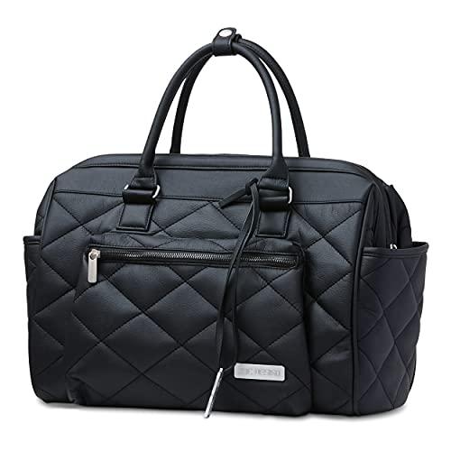 ABC Design Wickeltasche Style Diamond Edition - 2 in 1 Handtasche & Wickeltasche - inklusive hygienischer Wickelunterlage & Flaschenhalter - Farbe: black