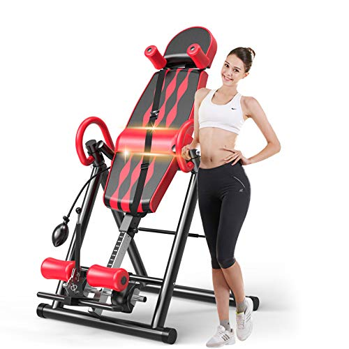 Popsport Premium Foldable Gravity Inversion Table Waist Inflatable Adjustment with Protective Belt...