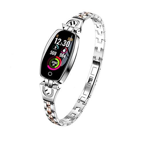 ZHICHUAN H8 Smart Watch Mujeres Ip67 Monitoreo de Ritmo Cardíaco a Prueba de Agua Bluetooth para Android Ios Aptitud Pulsera Smartwatch Moda/B