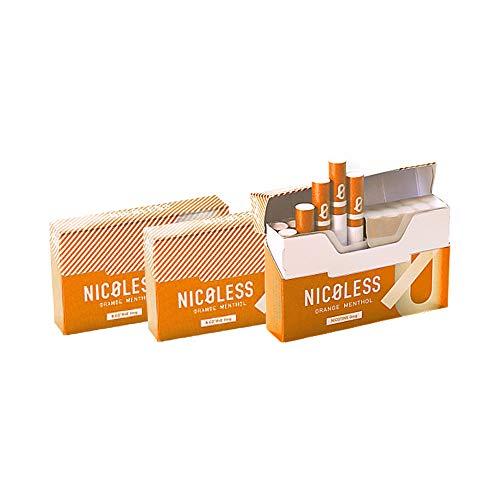 NICOLESS ニコレス (オレンジメンソール, 3箱セット) IQOS互換機 加熱式 ニコチンレス ヒートスティック