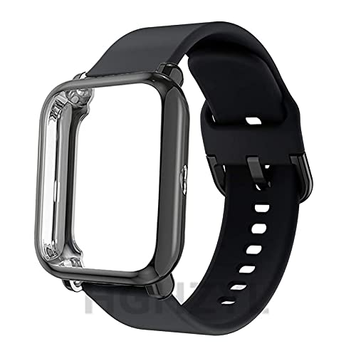 LXF JIAJU 2pack para Huami Amazfit BIP S/U/Pop Correa Reemplazo Smart Watch Banda De Silicona + Caso Soft TPU Funda Protectora Cobertura Completa (Color : 4, Size : Amazfit bip)